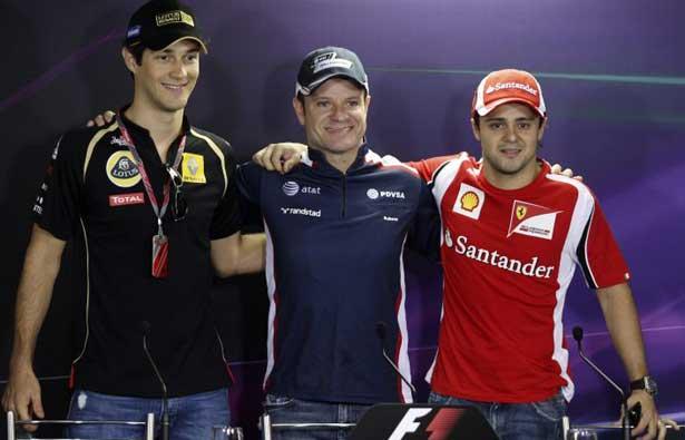 Bruno, Rubens e Felipe. Todos em 2012?