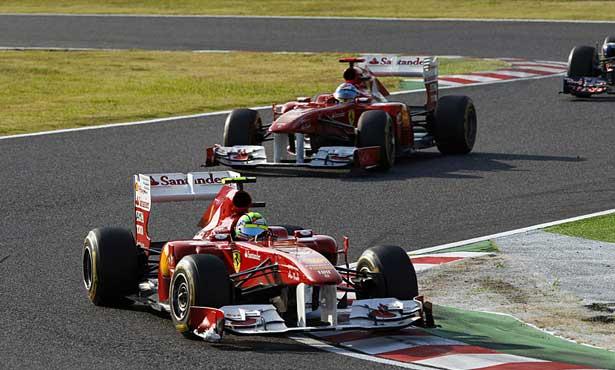 Massa ainda à frente de Alonso em Suzuka