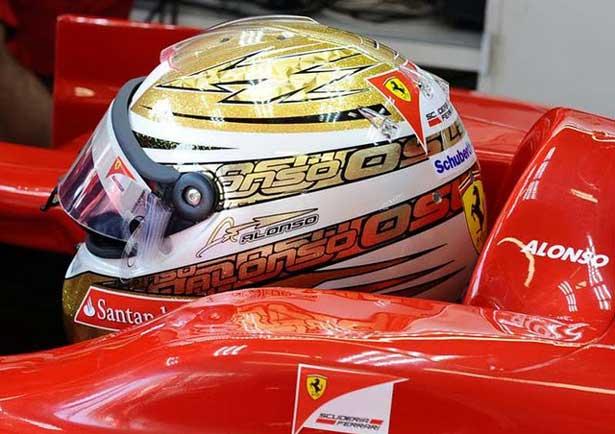 Capacete Alonso - Mônaco 2012