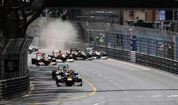 Largada GP de Mônaco 2012