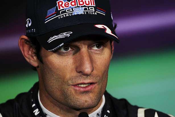Mark Webber em Silverstone