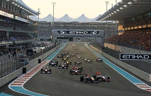 Largada em Abu Dhabi 2010