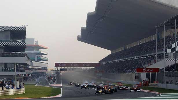 Largada do GP da India em 2011