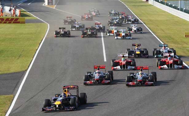 Largada GP Japão 2011