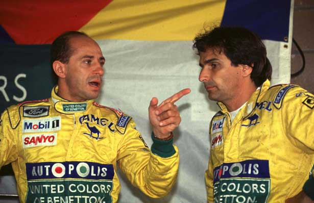 Com Roberto Pupo Moreno na Benetton