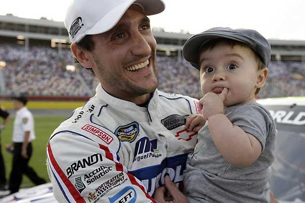 Miguel Paludo e seu filho Oliver