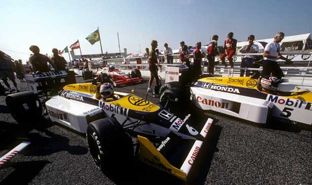 Piquet vence Mansell na Williams para o tri - 1987