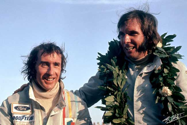 Grandes amigos e adversários: Stewart e Fittipaldi