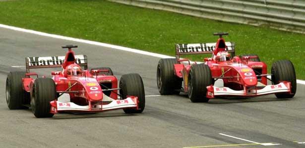 Schumacher e Barrichello - Áustria 2002
