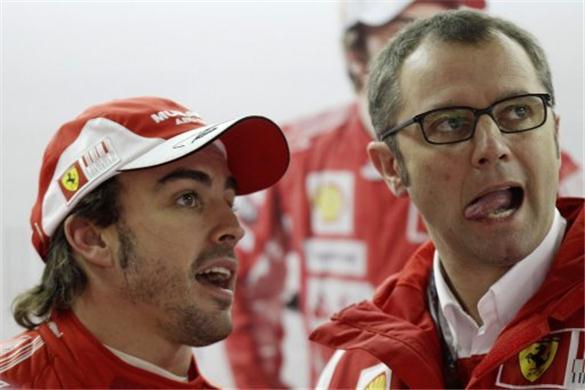 Fernando Alonso e Stefano Domenicali - Ferrari 2012