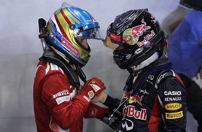 Alonso e Vettel - Cingapura 2012