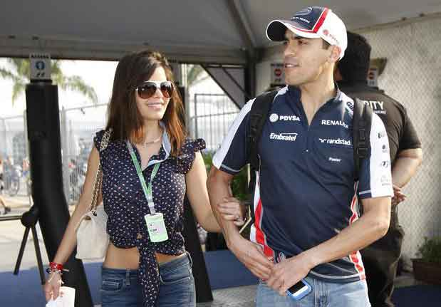 Maldonado com a namorada Gabriella Tarkany