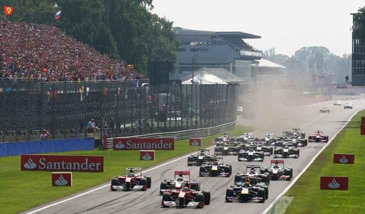 Largada em Monza em 2011