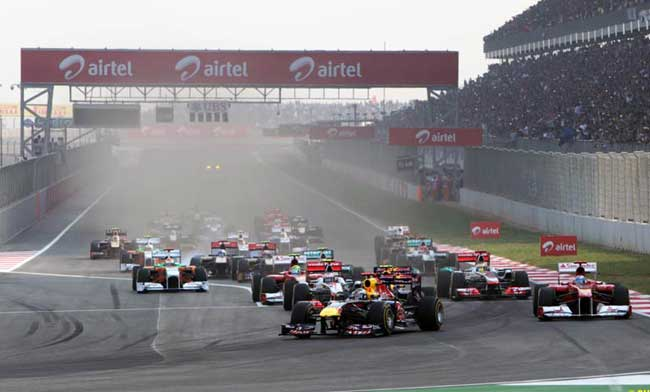 Largada GP da India 2011