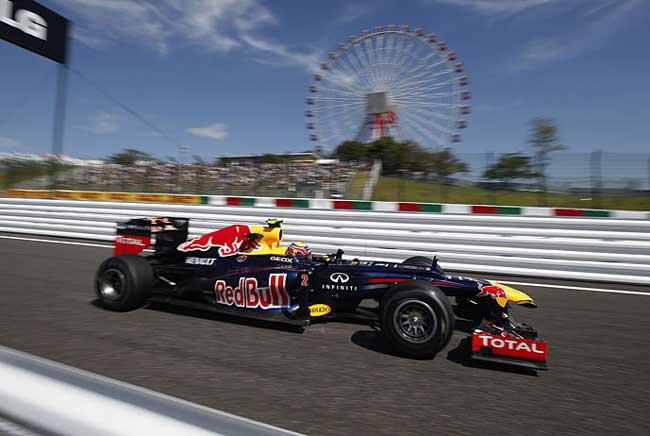 Mark Webber em Suzuka