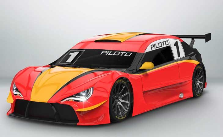 Ilustração do novo carro do Campeonato Brasileiro de Turismo.