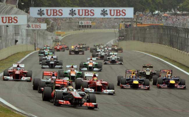 Largada GP do Brasil 2012