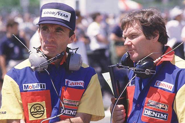 Frank Williams e Patrick Head em 1985