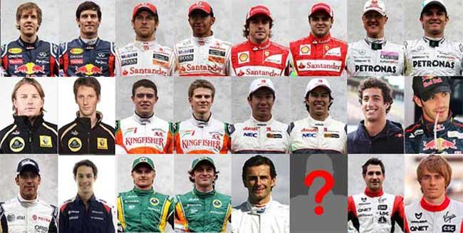 Pilotos da F1 2012