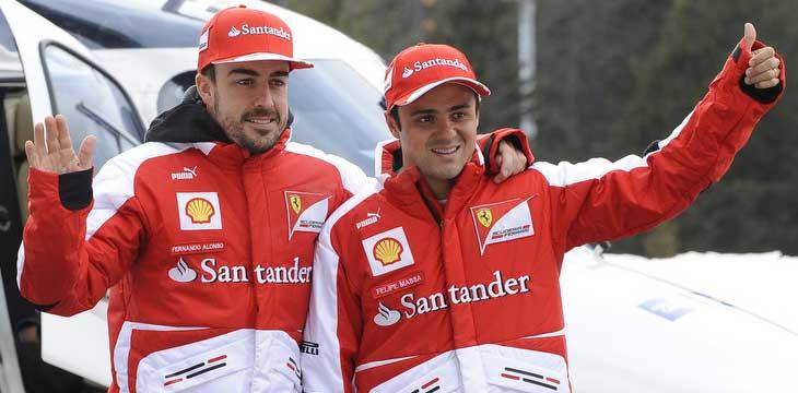Fernando Alonso e Felipe Massa