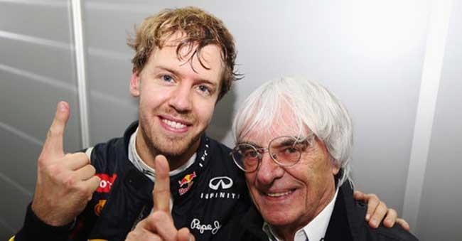Vettel com Bernie Ecclestone