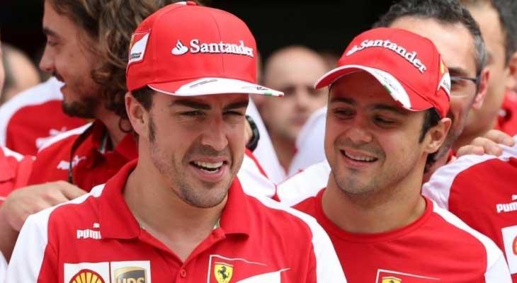 Fernando Alonso e Felipe Massa na Ferrari
