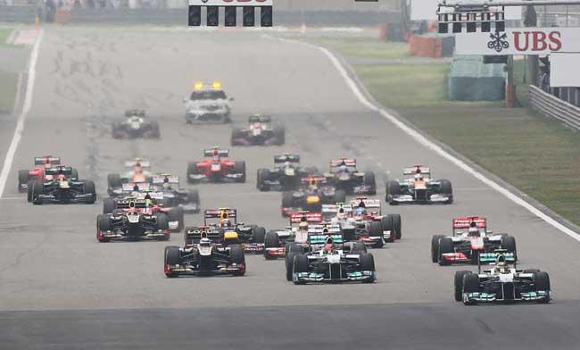 F1 - Largada GP da China de 2012