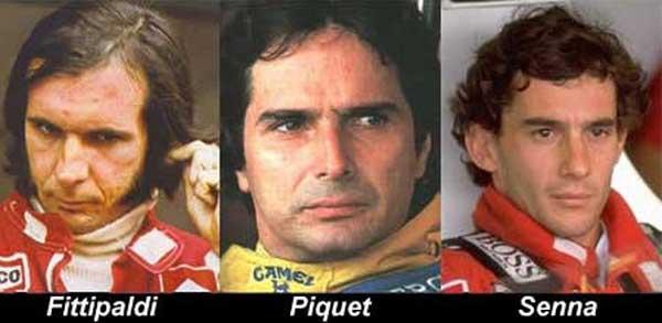 Emerson Fittipaldi - Nelson Piquet - Ayrton Senna