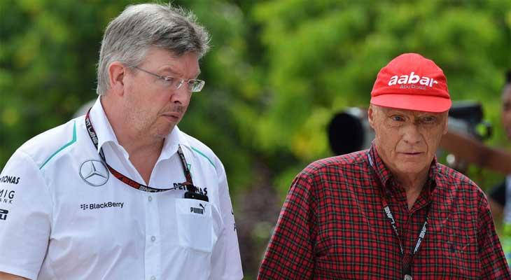 Ross Brawn e Niki Lauda