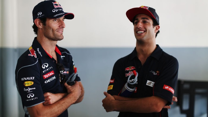 Mark Webber e Daniel Ricciardo