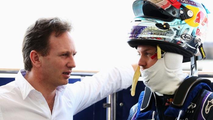 Christian Horner e Sebastian Vettel