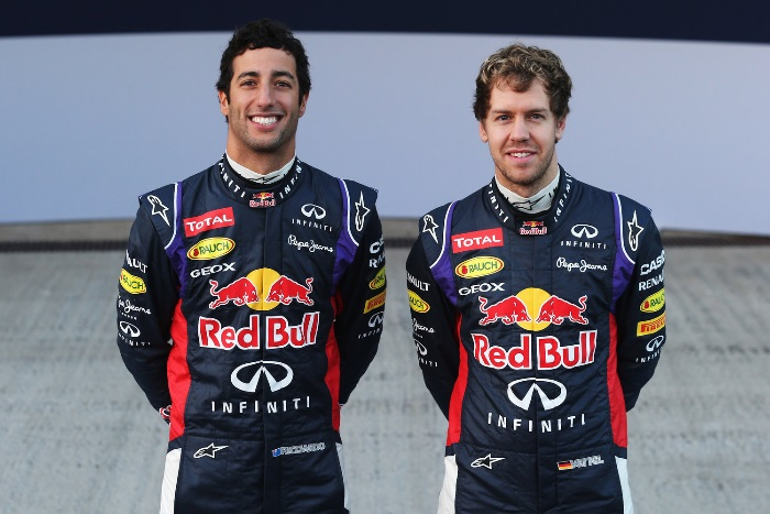 Daniel Ricciardo e Sebastian Vettel