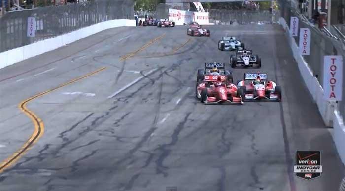 Scott Dixon x Justin Wilson na curva 8