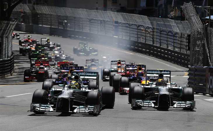 Largada do GP de Mônaco 2013