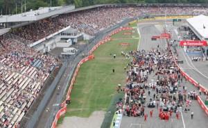 Arquibancadas vazias no GP da Alemanha