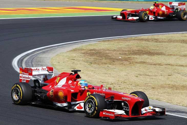 Alonso e Massa - Ferrari - Hungria 2013