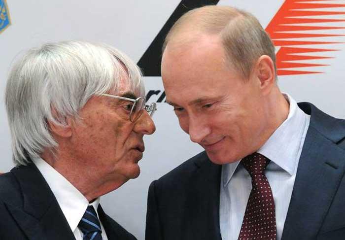 Bernie Ecclestone com Vladimir Putin