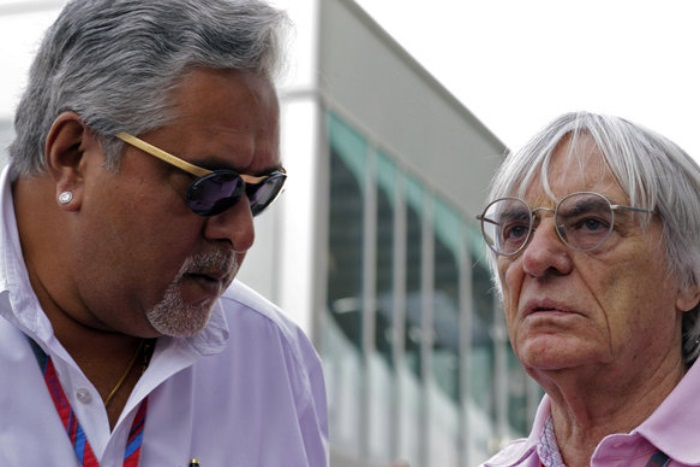 Vijay Mallya e Bernie Ecclestone