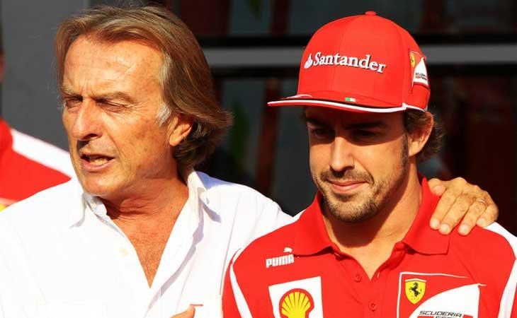 Luca di Montezemolo e Fernando Alonso