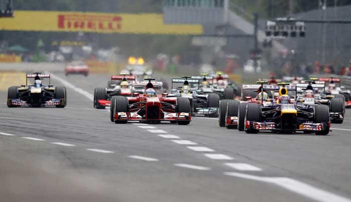 Largada em Monza 2013