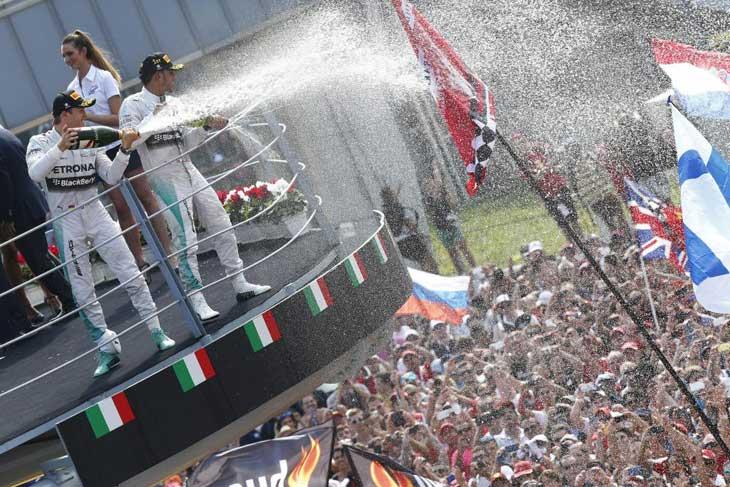 Pódio em Monza 2014
