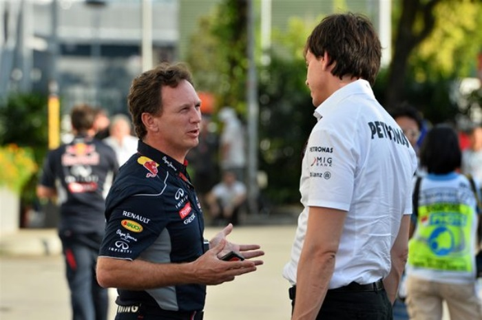 Christian Horner e Toto Wolff