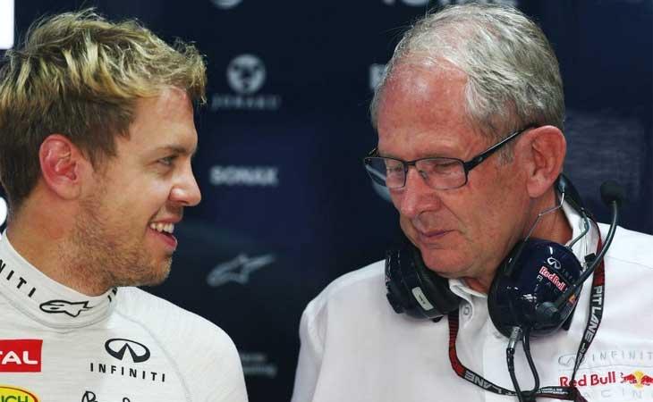 Sebastian Vettel e Helmut Marko