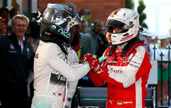 Nico Rosberg e Sebastian Vettel