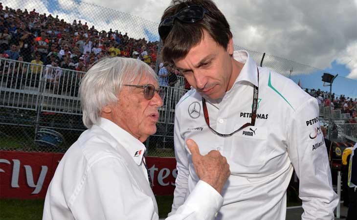Bernie Ecclestone e Toto Wolff