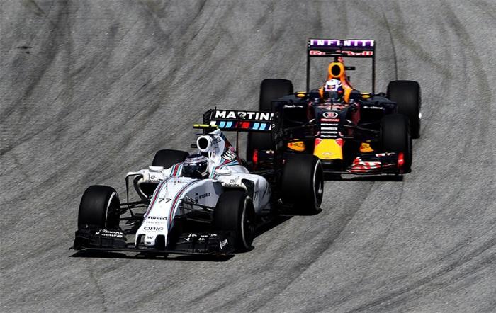 F1 – Williams: Desconfiada da ameaça da Red Bull em 2016
