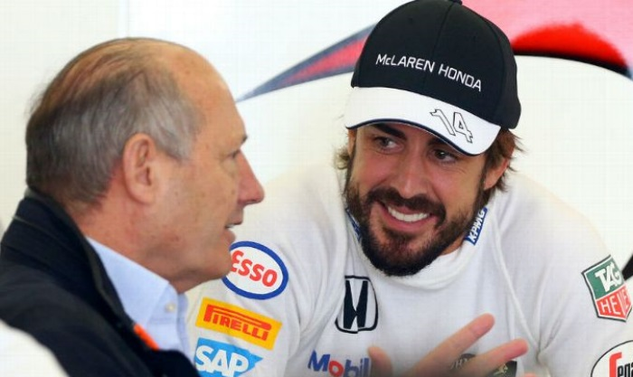 Ron Dennis e Fernando Alonso