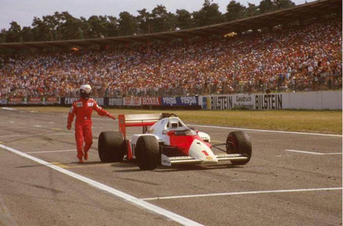 Ален Прост наГран-При Германии 1986. Источник: autoracing.com.br