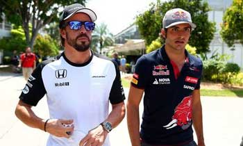 Fernando Alonso e Carlos Sainz