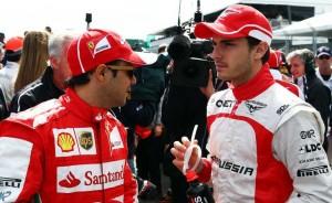 Felipe Massa e Jules Bianchi em 2013